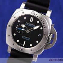 Panerai Luminor Submersible gebraucht 42mm Schwarz Datum Kautschuk