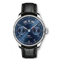 IWC Portuguese Annual Calendar Steel 44.2mm Blue Arabic numerals UAE, Dubai