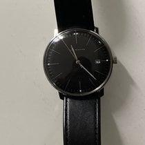 Junghans max bill Quarz occasion 38mm Noir Date Cuir