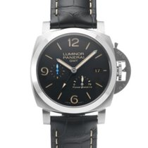Panerai PAM01321 Staal 2019 Luminor 1950 3 Days GMT Power Reserve Automatic 44mm tweedehands