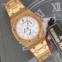 Audemars Piguet Yellow gold Automatic White 36mm new Royal Oak Dual Time