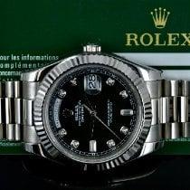 Rolex Day-Date II White gold 41mm Black No numerals United States of America, Michigan, Detroit