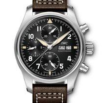 IWC Pilot Spitfire Chronograph Stal 41mm Czarny Arabskie Polska, Warszawa
