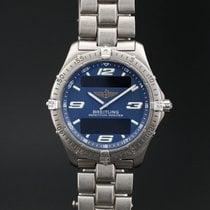 Breitling подержанные Кварцевые 40mm Синий Сапфировое стекло 10 атм