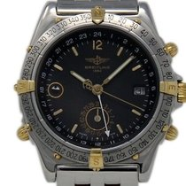 Breitling Duograph Steel 38mm Black No numerals