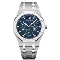 Audemars Piguet Royal Oak Perpetual Calendar Platinum 41mm Blue No numerals United States of America, Iowa, Des Moines