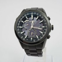 Seiko Astron GPS Solar pre-owned 45mm Black Titanium