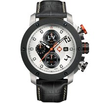Liv Watches neu Chronograph 46mm Stahl Saphirglas