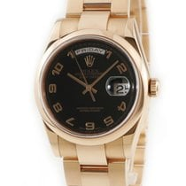 Rolex Automatic Black pre-owned Day-Date 36