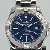 Breitling Avenger II GMT pre-owned 43mm Blue Date GMT Steel