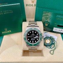 Rolex Submariner Date Acier 41mm Noir Sans chiffres