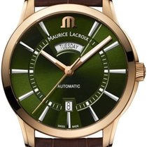 Maurice Lacroix Bronze Automatik Grün 41mm neu Pontos Day Date