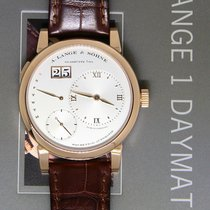 A. Lange & Söhne Rose gold Automatic Silver 39.5mm pre-owned Lange 1