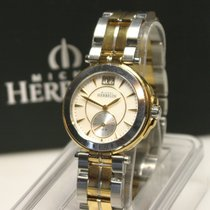 Michel Herbelin Steel Quartz Mother of pearl No numerals 33mm pre-owned Newport Yacht Club