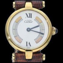 Cartier Tank Vermeil Argent 24mm Blanc Romains