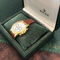 Rolex Daytona Gelbgold 40mm Weiß Keine Ziffern