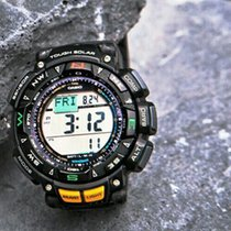 Casio Pro Trek Plastic 57,3mm Grey Arabic numerals