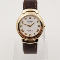 Rolex Cellini Желтое золото 37mm Белый