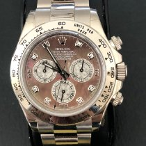 Rolex Daytona pre-owned 40mm Mother of pearl Chronograph White gold
