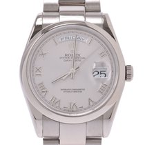 Rolex Day-Date 36 Oro blanco 36mm Gris