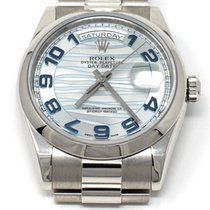 Rolex Day-Date 36 Platinum 36mm Blue Arabic numerals United States of America, Texas, Houston