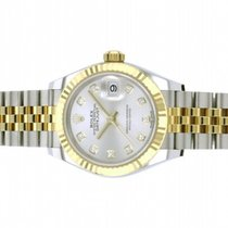 Rolex Lady-Datejust Gold/Steel 28mm Green No numerals