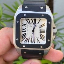 Cartier Santos 100 Steel 38mm Silver Roman numerals United States of America, Florida, Wellington