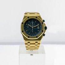 Audemars Piguet Or jaune Remontage automatique Bleu 42mm occasion Royal Oak Offshore Chronograph