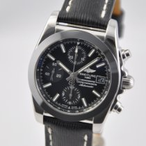 Breitling Chronomat 38 Steel 38mm Black No numerals