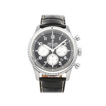 Breitling Navitimer 8 pre-owned 43mm Black Chronograph Date Crocodile skin