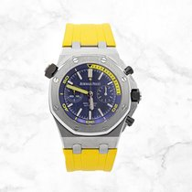 Audemars Piguet Royal Oak Offshore Diver Chronograph Steel 42mm Blue No numerals