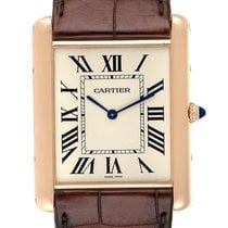 Cartier Rose gold Manual winding Silver Roman numerals 40.4mm pre-owned Tank Louis Cartier