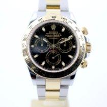 Rolex Daytona Or/Acier 40mm Noir Sans chiffres