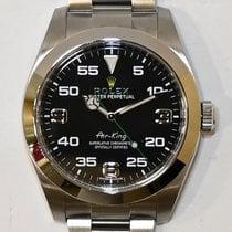 Rolex Air King Acier 40mm Noir Arabes