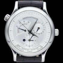 Jaeger-LeCoultre Master Geographic occasion 38mm Argent Date GMT Cuir