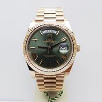 Rolex Day-Date 40 Oro rosa 40mm Verde Romani Italia, Rassina