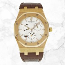 Audemars Piguet Rose gold Automatic Silver No numerals 39mm new Royal Oak Dual Time