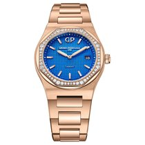 Girard Perregaux Laureato Rose gold 34mm Blue No numerals