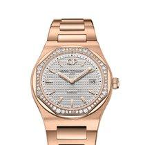 Girard Perregaux Laureato Rose gold 34mm Silver No numerals
