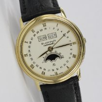 Blancpain Villeret Moonphase Yellow gold 34mm White