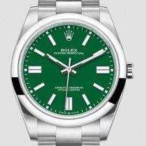 Rolex Ocel Automatika Zelená Bez čísel 41mm nové Oyster Perpetual