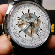 Breitling Transocean Chronograph Unitime Steel 46mm Silver United States of America, North Carolina, Winston Salem