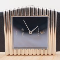 Rolex Cellini pre-owned 28mm Blue Leather