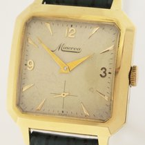 Minerva Yellow gold Manual winding pre-owned