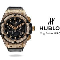 Hublot King Power Roségoud 48mm Zwart