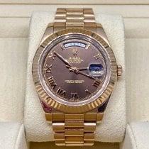 Rolex Day-Date II Oro rosa 41mm Marrón Romanos