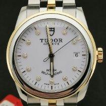Tudor Glamour Date Acero y oro 36mm Blanco Sin cifras