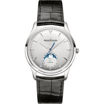 Jaeger-LeCoultre Master Ultra Thin Moon Acero 39mm Plata Sin cifras