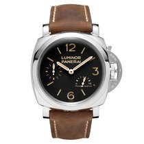 Panerai Luminor 1950 3 Days Power Reserve Steel 47mm Black Arabic numerals