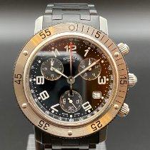 Hermès Stahl Quarz Schwarz Arabisch 38mm gebraucht Clipper